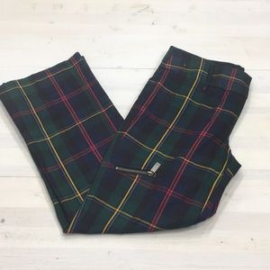 Tommy Hilfiger cropped plaid pants with pockets 4